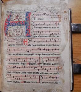 Antifonarium van de reguliere kanunniken van het Heilig Graf. Ms. XV s., f .1;Archief Priorij Thabor, Sint Odiliënberg