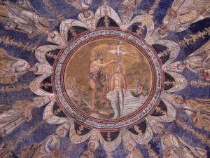 Ravenna Baptisterium Doop van de Heer